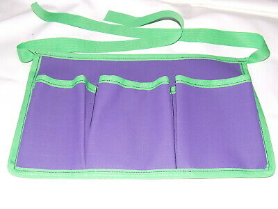 Ecotak Canvas Grooming Apron - Purple with Lime green trim Ecotak