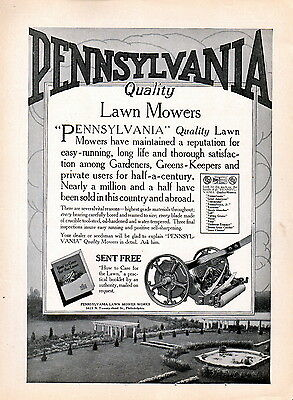 1917 Pennsylvania Lawn Mower Ad --Quality Lawn Mowers --z792.5
