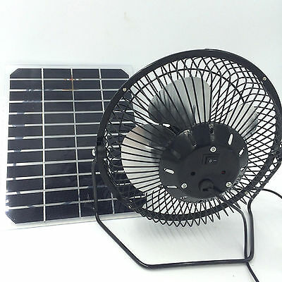 USB ventilation Fan Powered solar  by 5W  Panel Portable for Home free power