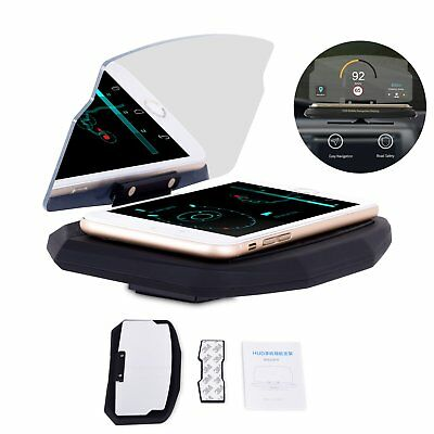 6.5'' Car HUD Holder Head Up Display Projector Bracket For GPS Navigation Phone