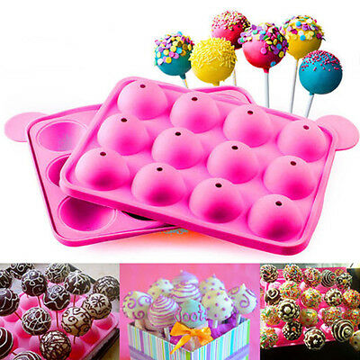 DIY 12 Round Lollipop Pastry Truffle Christmas Party Candy Cake Pop Mold Mould