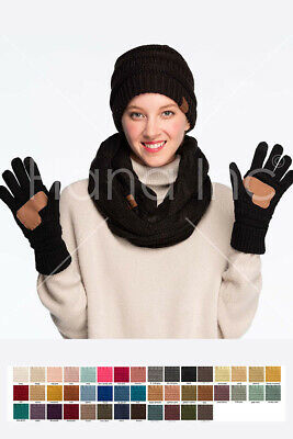 ScarvesMe C.C Warm Touch Screen Smart Soft Knitted Solid Color Gloves