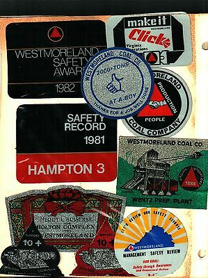 10 Different Nice Westmorland Coal Co. Coal Mining Stickers # 525