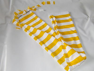 Ecotak Lycra rugless Tie in Tail Bag - Yellow white stripe Ecotak