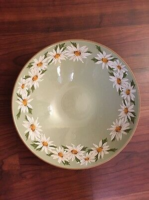 "Taylor Smith & Taylor Lazy Daisy 10"" Round Vegetable Bowl Vintage Circa 1968"