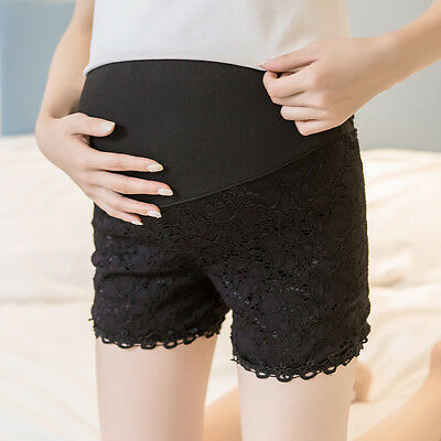 Adjustable Pregnant Safety Shorts Elastic Pants Leggings Maternity Cozy Lace Hot