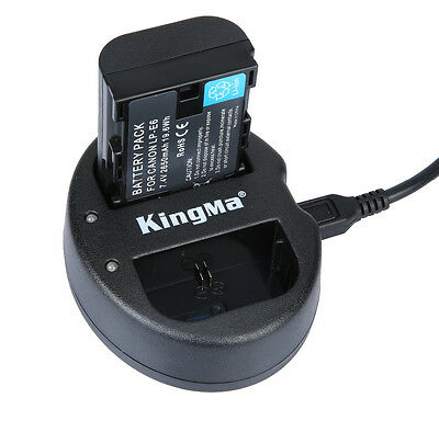 Decoded Canon LP-E6 LPE6 Battery & Charger For Canon EOS 60D 7D 5D Mark IV III