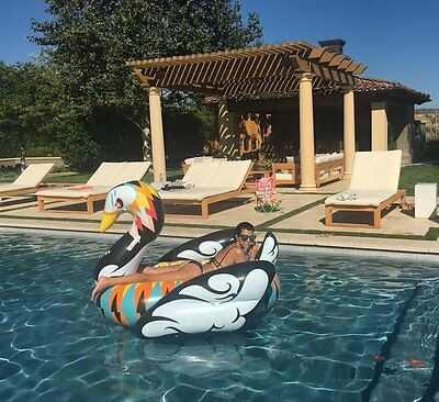 Artist Edition Swan -Inflatable Pool Float - Same Free 2day shipping + Inflator