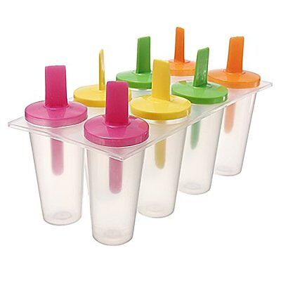 Set of 8 Sticks Sorbet ice cube ice Cream Mold Popsicle Yogurt A3R6