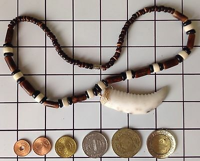 Ifugao Tribal Crab Claw Bone Necklace. Tribal Claw Necklace with Coin Collection