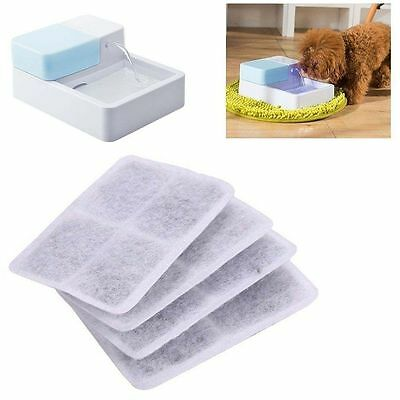 4pcs/set of Activated Carbon Filter Replacement For Pet Dog Water Fountain