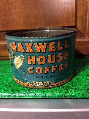VINTAGE MAXWELL HOUSE One Pound Coffee Can 1 lb. Tin