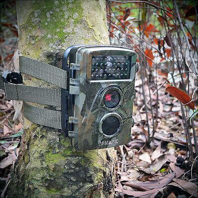 Hunting Scouting Game Trail Camera 12MP HD Infrared Black LOW GLOW Night Vision