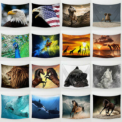 Animals Polyester Hanging Tapestry Wall Sticker Beach Towel Yoga Mat Home Decor