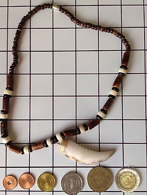 Ifugao Tribal Crab Claw Bone Necklace. Tribal Claw Necklace & Coin Collection 32