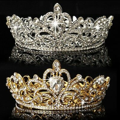 Corona Fascia Capelli Tiara Sposa Bridesmaid Strass Diadema Cristallo Party Prom