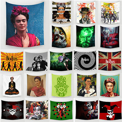 Frida Carlo Polyester Tapestry Beach Towel The Beatles Wall Hanging Home Decor