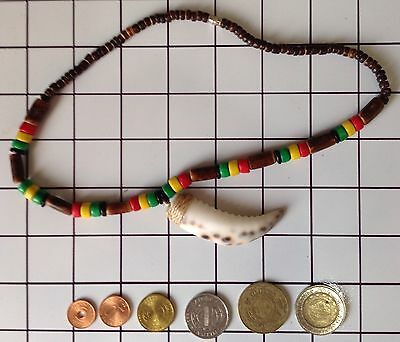 Ifugao Tribal Crab Claw Bone Necklace. Tribal Claw Necklace & Coin Collection 33