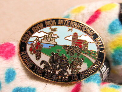 BMW  Motorcycle 1993 MOA International Rally Riding The Heavens To Oshkosh Pin