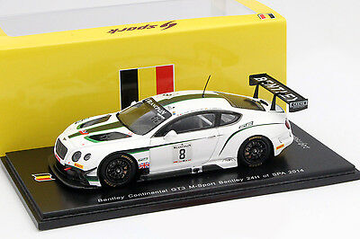 Bentley Continental GT3 #8 24h Spa 2014 D'Ambrosio, Tappy, Leclerc 1:43 Spark
