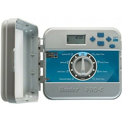 Hunter PRO-C 4-ZONE CONTROLLER 240VAC,6-Hrs Run Time*USA Brand-Indoor Or Outdoor