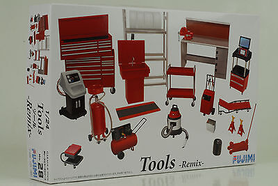 Diorama Garage Accessorie Tools Remix Set Kit ID-28 - 1:24 Fujimi