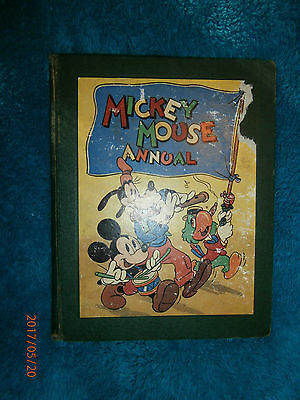 Mickey Mouse Annual 1947 (Hardcover) coloured illustrations children's stories