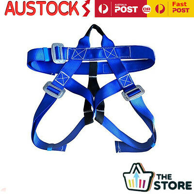 Outdoor Rock Climbing Rappelling Climbing Harness Seat Downhill Safety Belt Blue