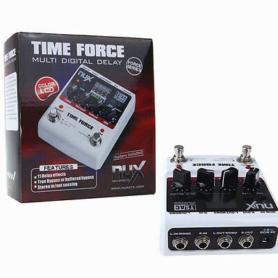 NUX Time Force Multifunction Digital Delay Guitar Effect Pedal True Bypass UK