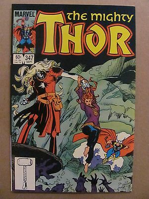Thor #347 Marvel Comics 1966 Series Malekith app 9.2 Near Mint-