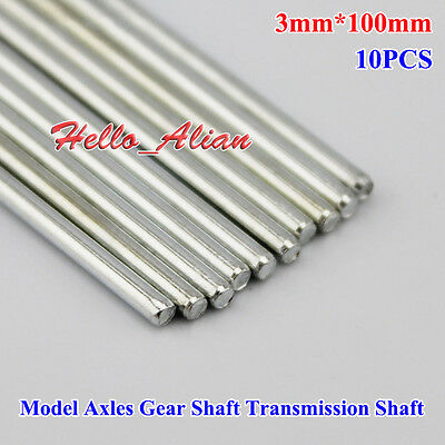 10PCS 3mm*100mm Model Axles Gear Shaft Transmission Shaft Toy Car Accessories