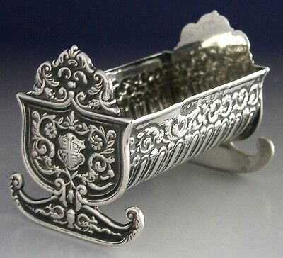 Rare Sterling Silver Royal Crib Cradle Pin Cushion 1896 Antique Victoria Jubilee