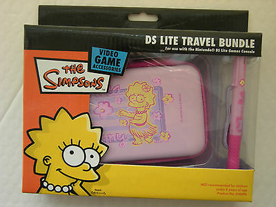 New The Simpsons Nintendo DS Lite Travel Bundle Lisa Case Stylus Pen (PINK)