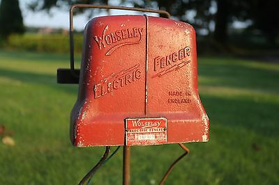 2x Wolseley 6V Electric Fencer -1950's Retro Farm Machinery Agriculture Antique