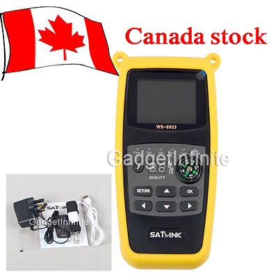 Satlink WS6933 DVB-S2 Band Satellite Finder Meter with 2.1 Inch LCD Display CAN