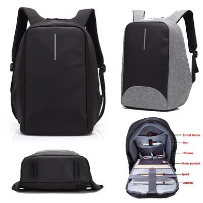 """Waterproof 15.6"""" Laptop Backpack Anti-theft Rucksack With USB Charge Port Bags"""