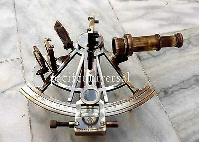 Marine Navy Ship Astrolabe Antique Brass Sextant Maritime Nautical Vintage Gift
