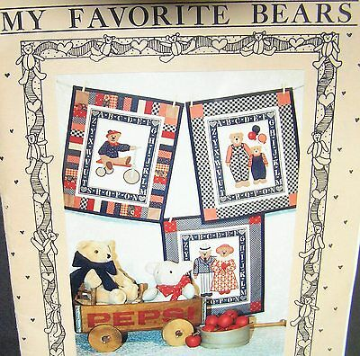 Bears Patchwork Kit Printed Fabric Panel Alphabet Wallhanging Mumms The Word Sew