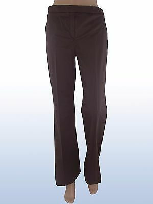 Pantalone donna marrone bootcut I BLUES MAX MARA it 46 uk 14 de 40 w 32 d5563f26ade