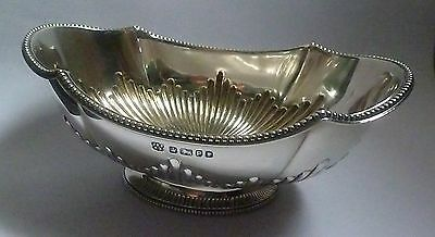 Antique Solid Silver Dish w/ Gadrooned Decoration by Fenton Bros. Sheffield1882