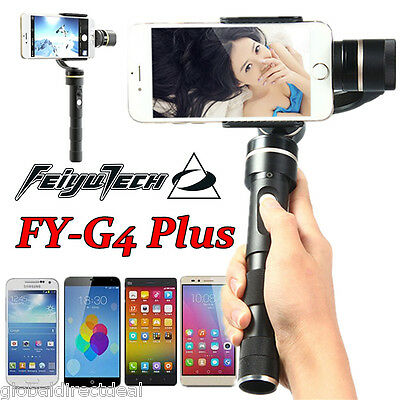 Feiyu Tech FY-G4 Plus 3Axis Handheld Brushless Gimbal per IOS Android Smartphone