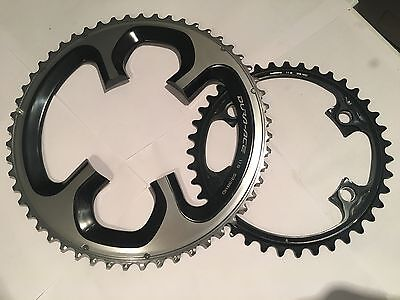 Shimano Dura Ace 9000 11 Speed 53/39 110bcd chainrings - New