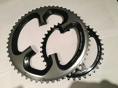 Shimano Dura Ace 9000 11 Speed 53/39 110bcd chainrings - Used