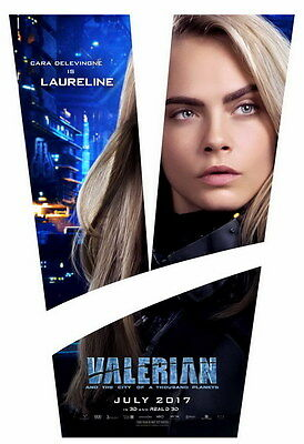 """012 Valerian and the City of a Thousand Planets - 2017 Movie 14""""x20"""" Poster"""