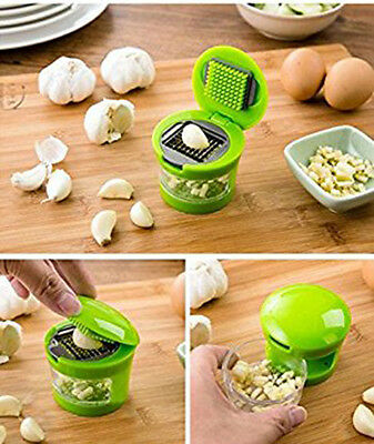 Garlic Press Garlic Perfection Mincer Slicer Chopper with 2 Blades Kitchen Tool
