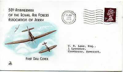 GB - JERSEY 1978 FDC RAF 50th ANN. OF THE ROYAL AIRFORCE ASSOCIATION OF JERSEY