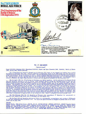G.B.1973 RAF No. 17 SQUADRON- 33rd  ANN. OF THE BATTLE OF BRITAIN - SIGNED