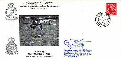 G.b.1971 Raf Souvenir Cover The Redevelopment Of 819 Naval Air Sq.certified See
