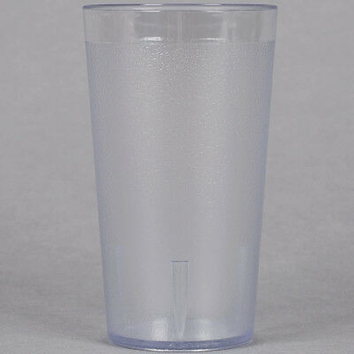 (48-Pack) 12 oz. Clear Round Pebbled Plastic Restaurant Drinking Glass Tumblers
