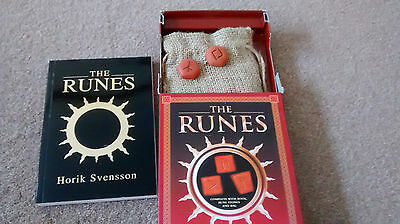 THE RUNES. Ancient Norse System of Divination. Book, 25  Stones, Bag FREEPOST